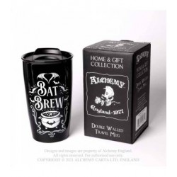 New Release! Alchemy Gothic MRDWM6 Bat Brew: Double Walled Mug