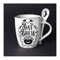 Alchemy Gothic ALMUG21 Bat Brew: Mug and Spoon Set
