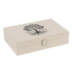 Tree of Life Canvas Jewellery Box