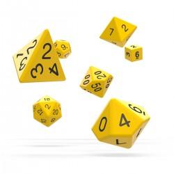 oakie doakie DICE RPG Set Solid: Yellow (7)