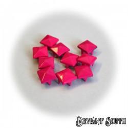 DIY Square Pyramid Leathercraft Rivet 9mm Dark Pink - 10pcs