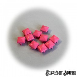 DIY Square Pyramid Leathercraft Rivet 9mm Light Pink - 10pcs
