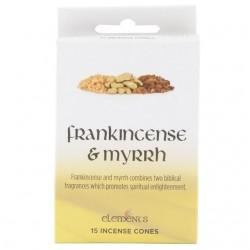 Elements Incense Cones - Frankincense & Myrrh (15 cones)